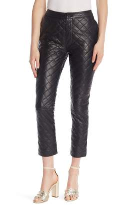 Frame Quilted Lamb Leather Pants