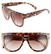BP Women's Lunette 40Mm Shield Sunglasses - Tort