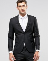 Jack & Jones Premium Skinny Suit Jacket In Black
