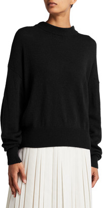The Row Ophelia Knit Cashmere Drop-Shoulder Sweater