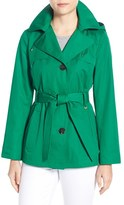 Ellen Tracy Women's Cotton Blend Short Trench Coat