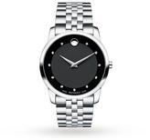 Mens Movado Museum Diamond Watch 0606878