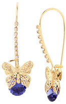 Betsey Johnson Fall Critters Butterfly Cz Shephard Hook Earring
