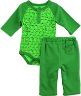 John Deere Infant Green Bodysuit Pants Set FN021G (6M)