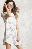 Forever 21 FOREVER 21+ Crystal Dye T-Shirt Dress
