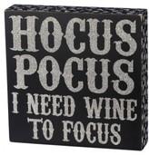 Primitives By Kathy Hocus Pocus Box Sign