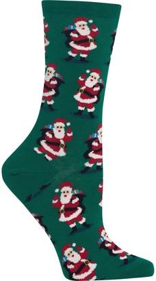 Hot Sox Women's Holiday Fun Novelty Crew Socks