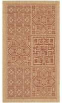 """Larson Geometric Dark Brick/Tan Indoor/Outdoor Area Rug Sol 72 Outdoor Rug Size: Rectangle 8'11"""" x 12'"""