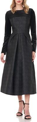 Kay Unger Blaire Velvet Jacquard Cocktail Dress