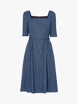 LK Bennett Wilson Denim Dress, Blue