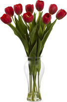 Asstd National Brand Nearly Natural 24 Tulips with Vase