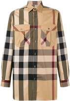 Burberry checked shirt - men - Cotton/Polyamide - XS
