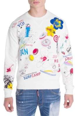 DSQUARED2 Hawaii Graphic Sweater