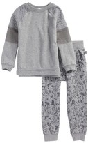 Splendid Boy's Sweatshirt & Print Sweatpants Set