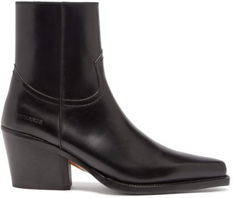 DSQUARED2 Western Leather Boots - Black