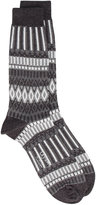 Ayame grey and white lunch patterned socks
