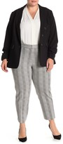 Amanda & Chelsea Alex Slim Leg Ponte Plaid Pants (Plus Size)