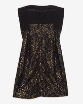 Diane von Furstenberg Floral Lace Strapless Dress