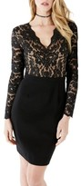 Karen Kane Women's Becca Lace & Knit Sheath Dress