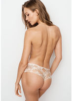 Dream Angels Lace & Dot Mesh Hipster Thong Panty