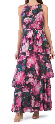 Floral Tiered Gown