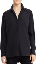 Lauren Ralph Lauren Crepe Button-Down Tunic