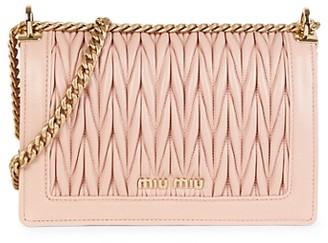 Miu Miu Matelasse Metallic Leather Crossbody Bag