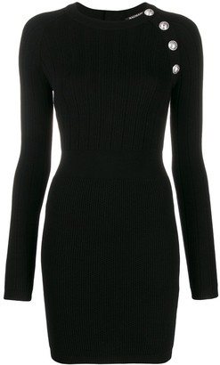 Balmain Buttoned Body-Con Mini Dress