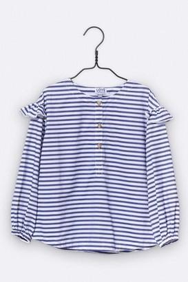 LOVE kidswear - Paula Blouse In Blue White Stripes - 86/92