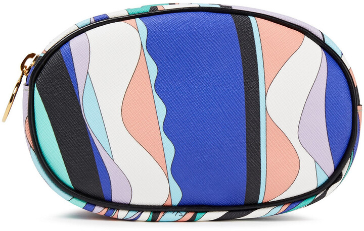 Emilio Pucci Leather-trimmed Printed Coated-canvas Cosmetics Case