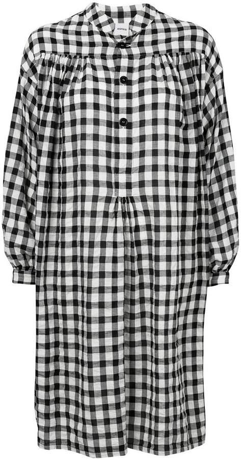Aspesi check print shirt dress
