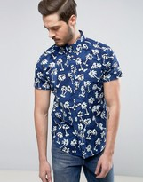 Wrangler Palm Print Shirt Regular Fit Short Sleeves