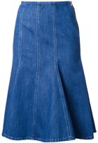 Michael Kors ruffled denim skirt