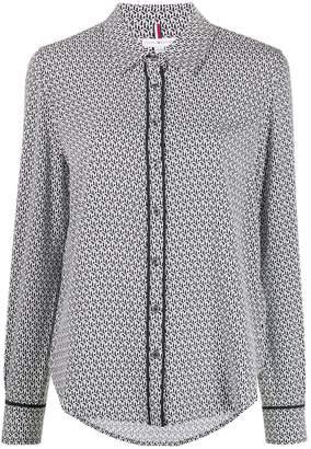 Tommy Hilfiger monogram print slim-fit shirt