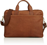 Barneys New York MEN'S TOP-ZIP BRIEFCASE-TAN