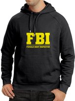 lepni.me N4203H Hoodie 203 Female Body Inspector gift ( Black Yellow)