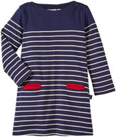 Jo-Jo JoJo Maman Bebe Breton Dress (Baby) - Navy/Cream Stripe-6-12 Months