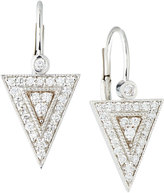 Penny Preville 18k White Gold Diamond Medium Triangle Drop Earrings