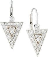 Penny Preville 18k White Gold Diamond Medium Triangle Drop Earrings