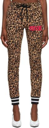 Versace Beige and Black Leopard Lounge Pants