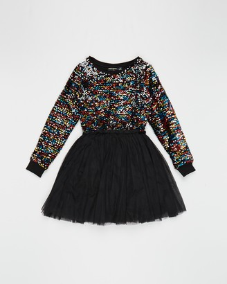 Rock Your Kid Sequin LS Circus Dress - Kids-Teens
