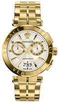 Versace Aion Chronograph Bracelet Watch, White