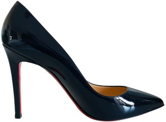 Christian Louboutin Pigalle Navy Patent leather Heels