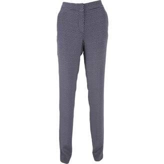 Stella McCartney Stella Mc Cartney Blue Silk Trousers