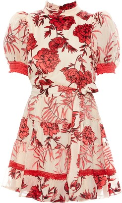 Alice + Olivia Regan tiered dress