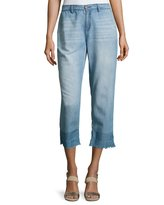 Soft Joie Marianne High-Rise Chambray Pants, Blue