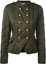 Burberry equestrian jacket - women - Cotton/Polyester - S