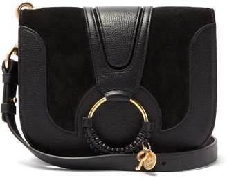 See by Chloe Hana Small Suede And Leather Cross-body Bag - Black