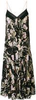 No.21 floral print pleated midi dress