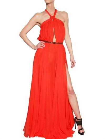 DSquared Silk Chiffon Long Dress Dress